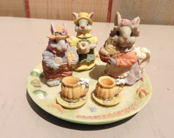Cherished Moments Collectible Tea Pot set Bunny or Teddy Bear
