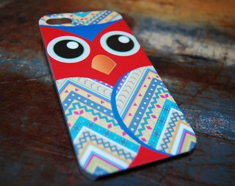 Indian Print Owl Cell Phone Case For iPhone 6 / (4.7) / 4.7 / 5c / 5s / 5 / 4s / 4 Hard Plastic Owls Hoot Who Hooters Phone Cases c42