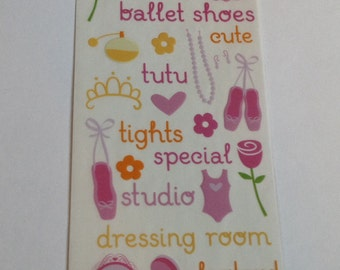New For Scrapbooking embellishment Rub-On Transfers BALLET