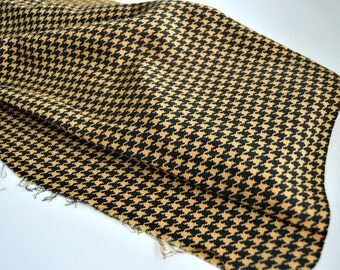 Portuguese Fabric - Houndstooth - Black and Yellow