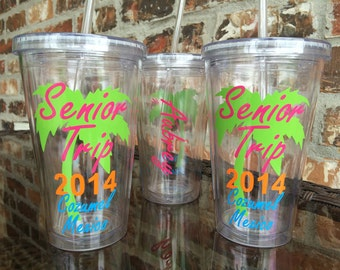 Senior Trip Palm Tree Tumbler 16 ounce
