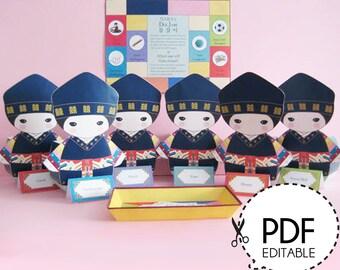 Korean Boy DolJabi kit - Printable PDF Download