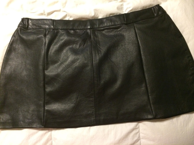 black leather skirt plus size 18 20w