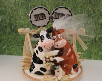 cow wedding cake toppers uk popular items for cow cake toppers on etsy 13034