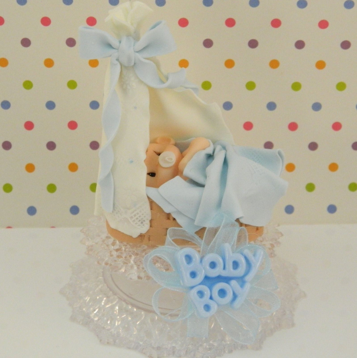 baby boy shower cake topper decoration