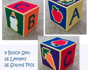 Plastic Canvas Baby Blocks Pattern