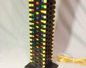 LEGO® Lamp - Black & Multicolor Rainbow