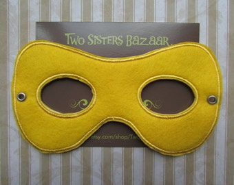 Felt Superhero Mask, Kids Superhero Mask, Robin Mask