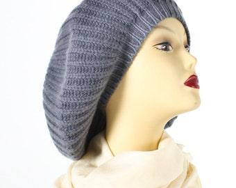 Dark Grey Ina Cashmere Hat