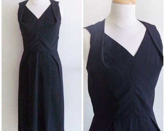 Princess Di // Vintage 50s Dress // 1950s Ferman O'Grady Little Black Dress LBD