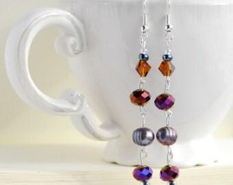 Sophora Earrings: Burnt Lavender