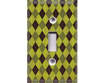 Nature Lover Collection - Argyle Light Switch Cover
