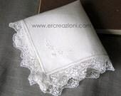 Handkerchief lace wedding filet, handmade.