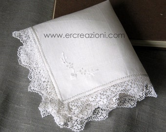 Handkerchief lace wedding filet, handmade.