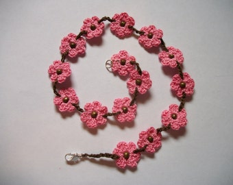 Crochet Flower Choker