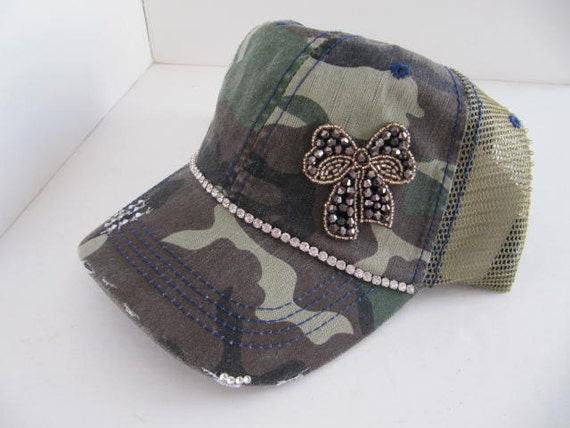 trucker hat bling hat hats camo green womens by