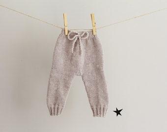 Handknit Baby Leggings, Baby Trousers, Baby Knitwear