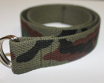 Children's Camoflage D Ring Army Belt