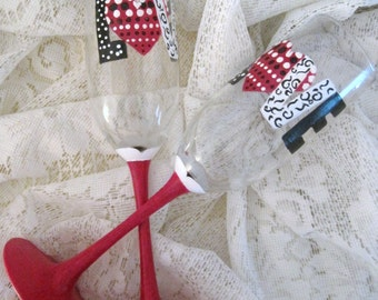 Valentine Glasses (set of 2) Handpainted