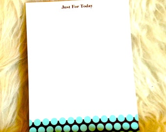 "Recovery Gifts - ""Just for Today"" Notepad"