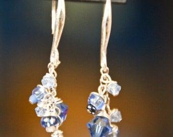 Blue Dangle Bundle Sparkle Earrings