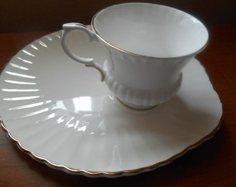 Staffordshire China Snack Set Cup with Saucer