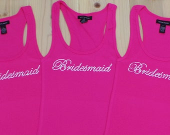 3 Bridesmaid Tank Top. Bride. I Do Tank Top. Bachelorette Party Gift. Bride Shirt. Just Married. Wifey.