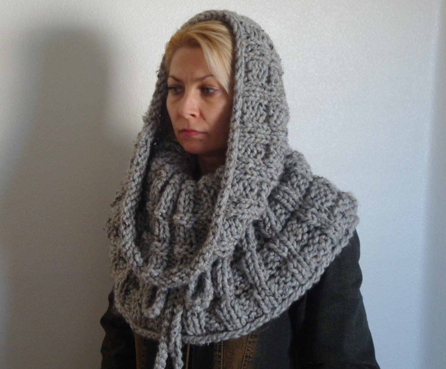 Knitting Pattern Infinity Scarf Hood: Hooded infinity scarf by ...