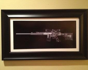 Premium grade FRAME for Gun prints