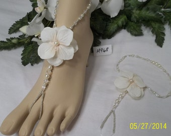 Wedding Barefoot Sandals, Beach Wedding Barefoot Sandals, Bridal Barefoot Sandals, Barefoot Jewelry, ...