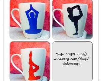 Yoga Mug- Coffee Cup- Yoga Coffee Cup- I love yoga- Zen-OM- Namaste Zen- Coffee Mug for Yogis - Yogi- Namaste - Gifts for yoga instructor
