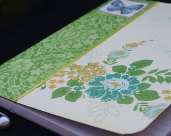Green and Yellow Altered Composition Book (1022)