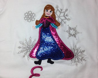 Disney Anna with Snowflakes - Personalized - Youth