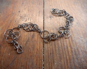 Scribble Bracelet - Oxidized