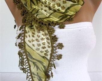 Zebra Scarf ,women scarves - guipure -  fashion scarf - gift scarves
