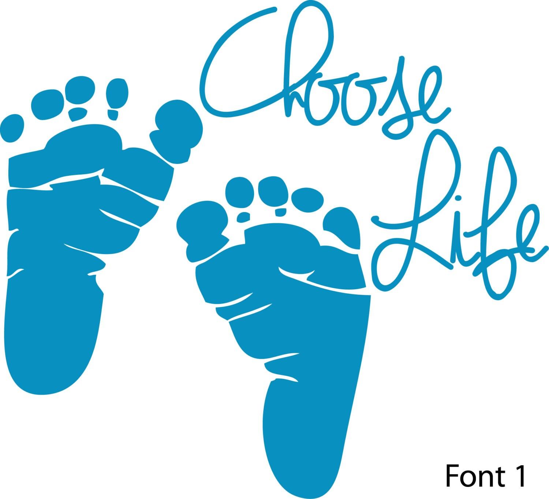Choose Life Decal Vinyl Stickerts Anti Abortion Pro Life