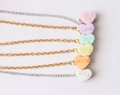 Candy Heart Sweater Clips or Collar Chain/Collar Clip (Multiple colour options, Vintage Inspired) Valentine's Day Sweets Hearts