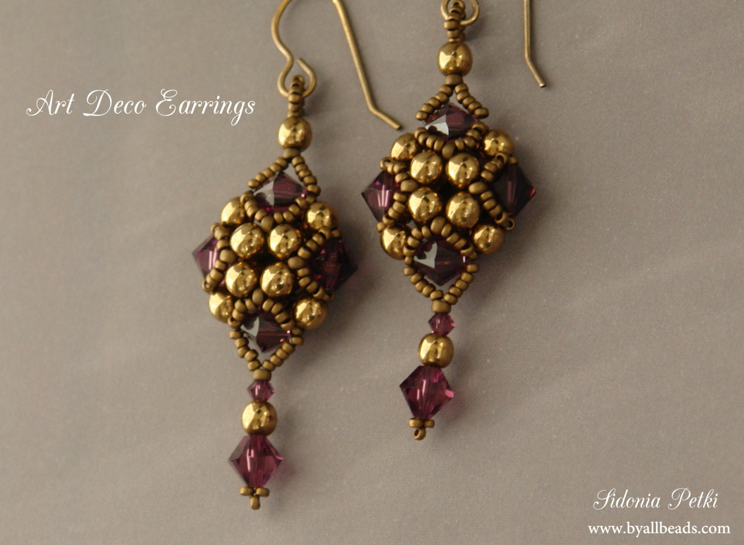 Beaded Earrings Tutorial Art Deco Style Earrings Beading