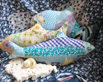 Colourful hand made fabric fish
