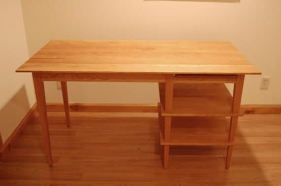 Asian style cherry desk with manuscript shelf for Asian inspired desk