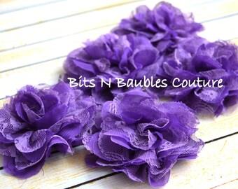 grape lace chiffon flowerDIY supplies .. wedding .. baby shower.. wholesale supplies.. diy lace flower.. baby headband kit