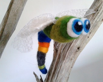 Lilo the Dragonfly - Critter, needle felted , fairy