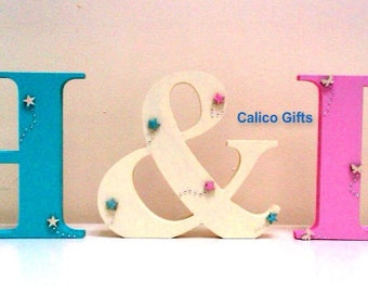free standing wooden letters wedding letters wooden initials top table decor large wooden letters