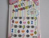 KT75 Cartoon Sticker Nail Art Sticker Nail Art Sticker Sheet DIY Nail Art