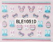 BLE1051D Shinny Nail Art Sticker Nail Art Sticker Sheet DIY Nail Art Easter Sticker