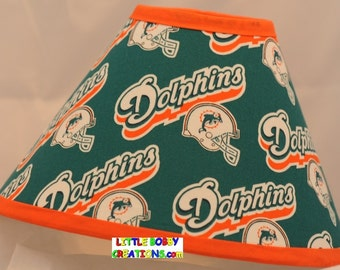 NFL Football Miami Dolphins Fabric Lamp Shade (10 Sizes to Choose From)