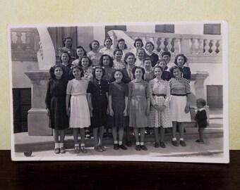 Antique Class Photo - 1920 School Class Picture - Sepia - S10