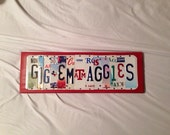 GIG Em AGGIES Custom Recycled License Plate Sign Texas A&M University Aggies