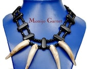 African Ethnic Ivory Tooth statement necklace Unisex
