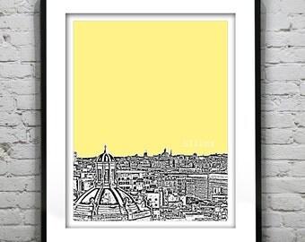 Sliema Malta City Skyline Poster Art Print Southern Europe